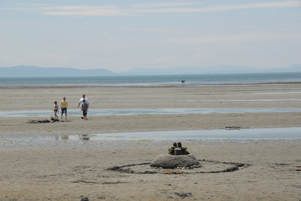 Building Sand Castles at Birch Bay